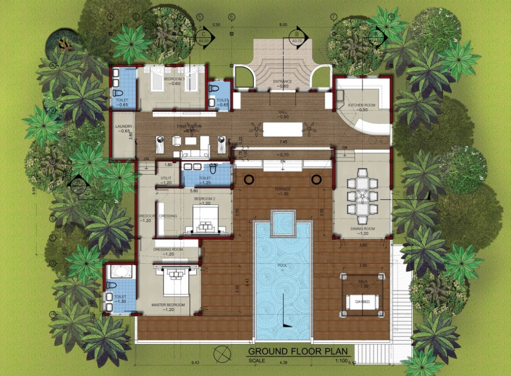 east coast pool villa for rent